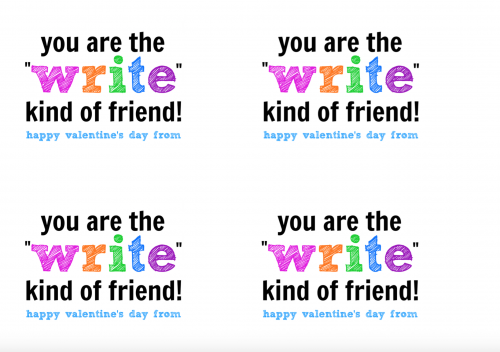 Write Kind of Friend Valentine Printable