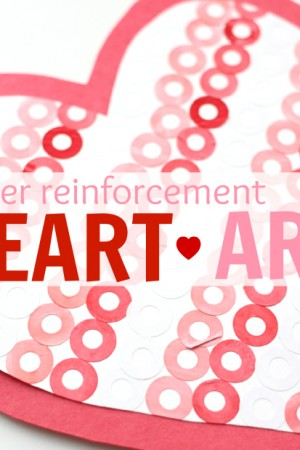 paper reinforcement heart art square