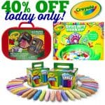 40% off Crayola Products Today Only!