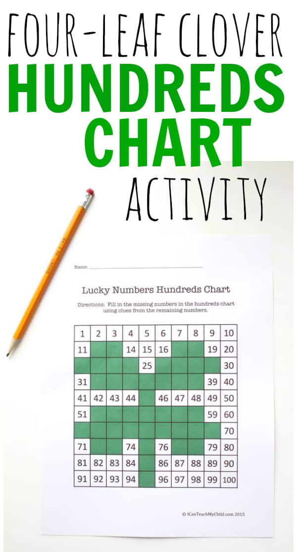Four-Leaf Clover Hundreds Chart Activity