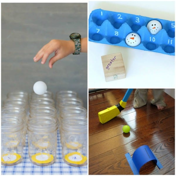 Math Activities with Ping Pong Balls