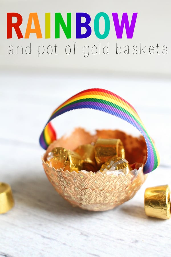 Rainbow and Pot of Gold Baskets
