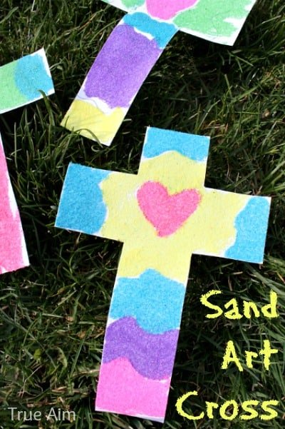 Sand Art Cross