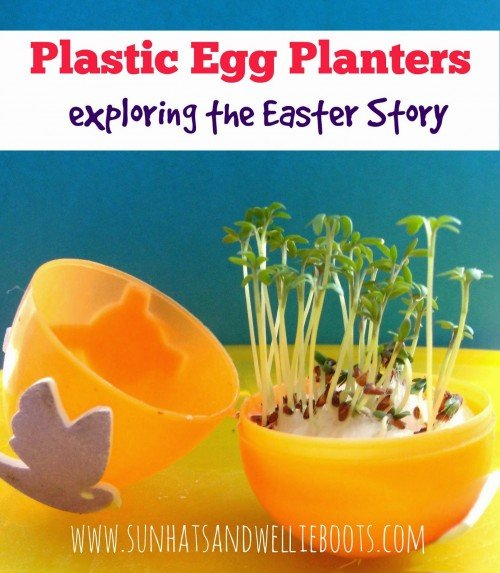 plastic egg planters