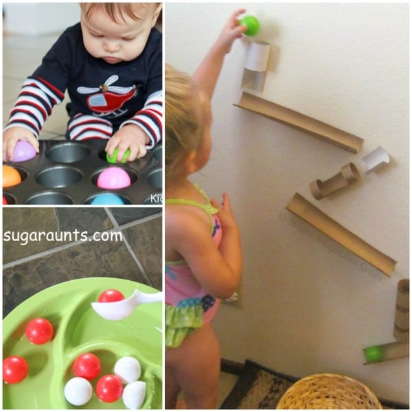 toddler activities with ping pong balls