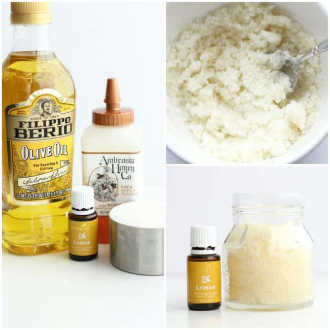 Honey Lemon Sugar Scrub supplies