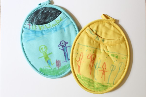 mother's day craft for preschoolers - make a personalized pot holder