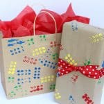 LEGO-Stamped Gift Wrap