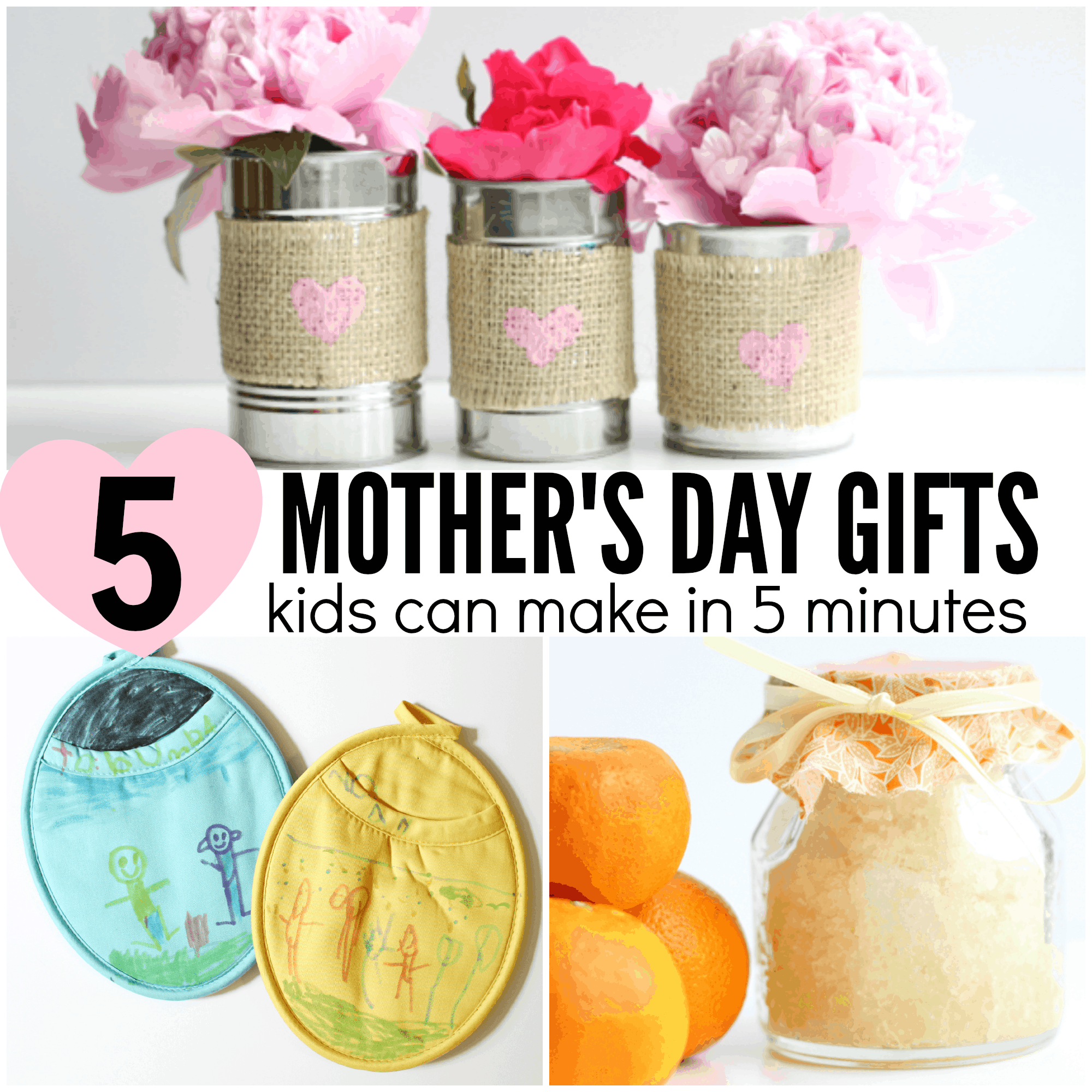 Homemade Flower Pots 5 Mother S Day Gifts Kids Can Make In 5 Minutes Or Less