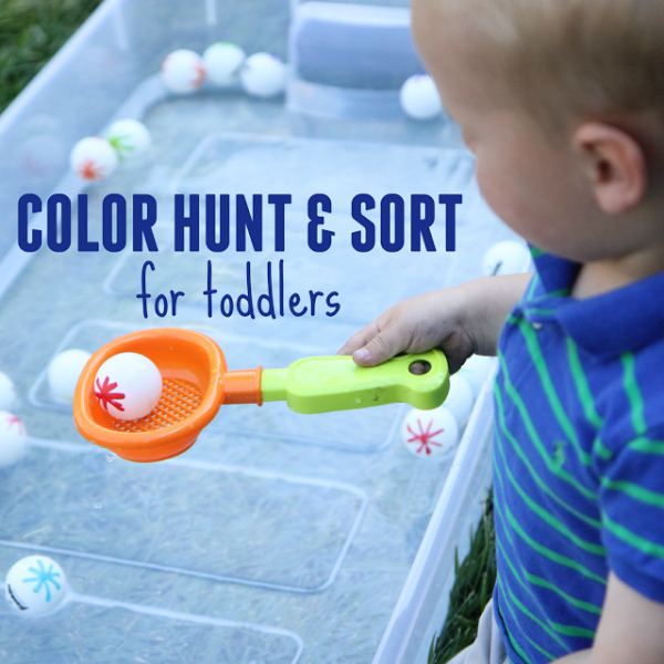 color hunt for toddlers water