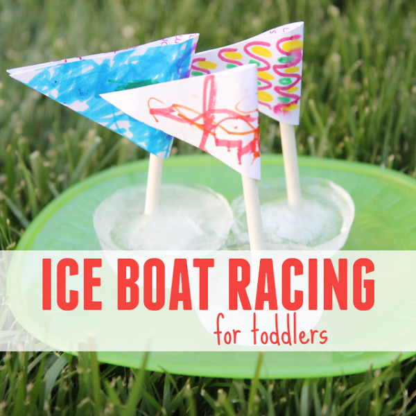 ice boat racing with toddlers