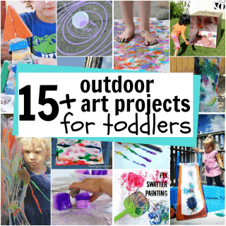 Outdoor Art for Toddlers