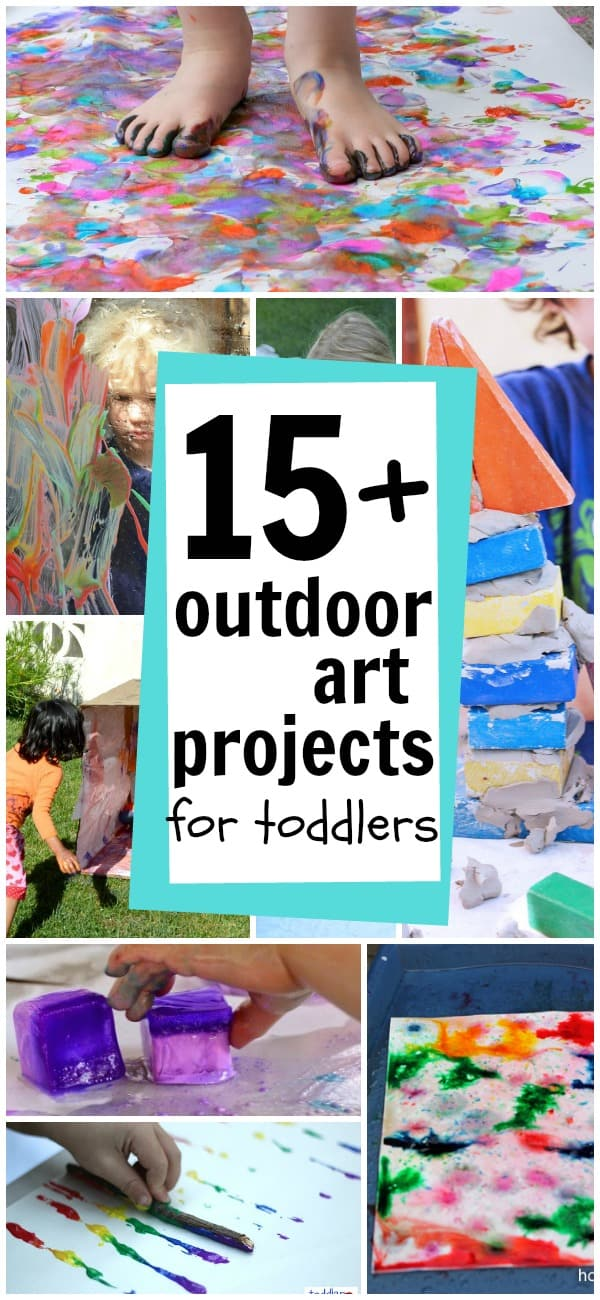 15+ Outdoor Art Projects for Toddlers
