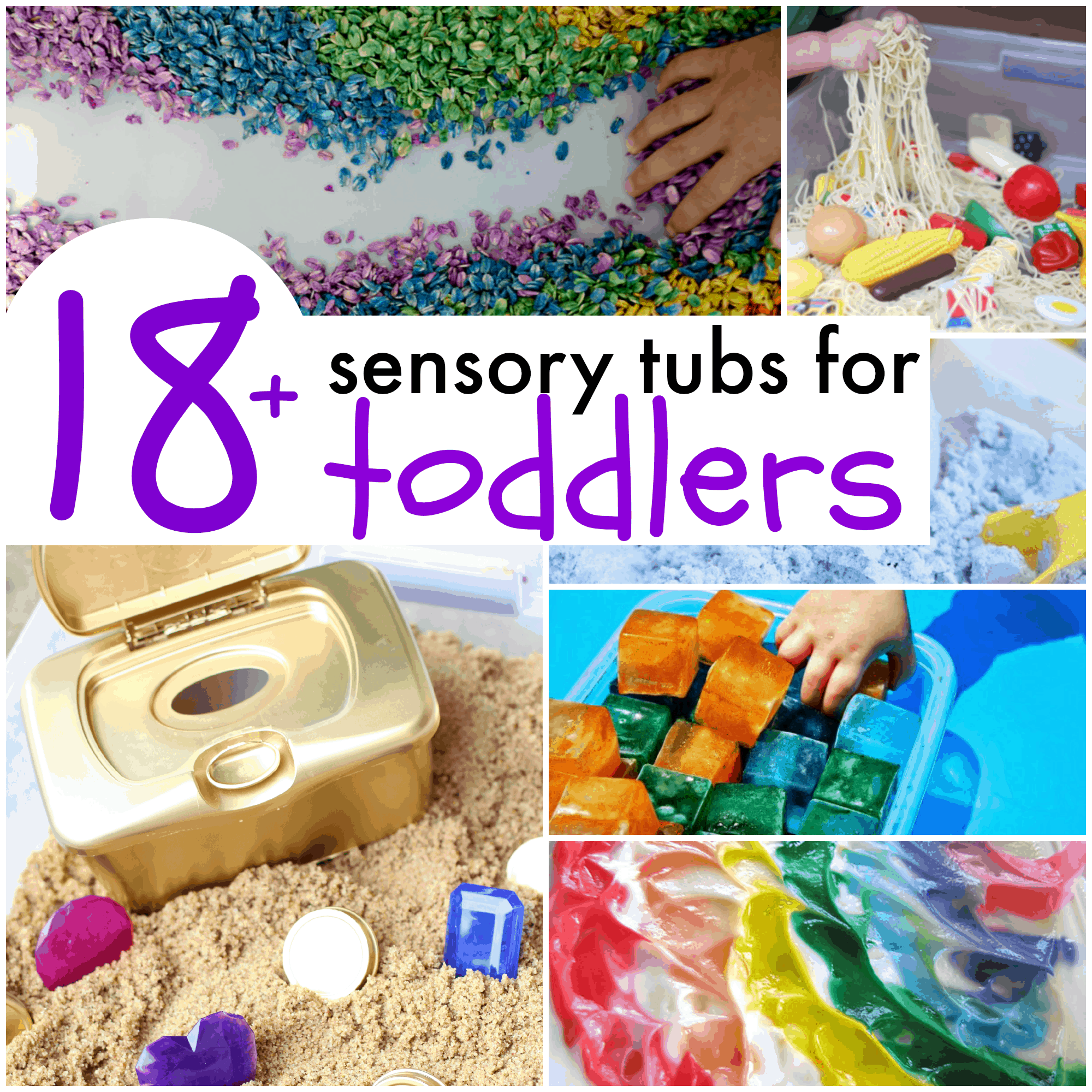 18 sensory tubs for toddlers - Pictures For Toddlers