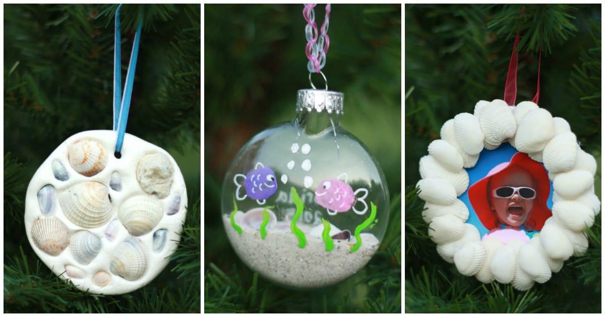 Seashell Christmas Ornaments Homemade