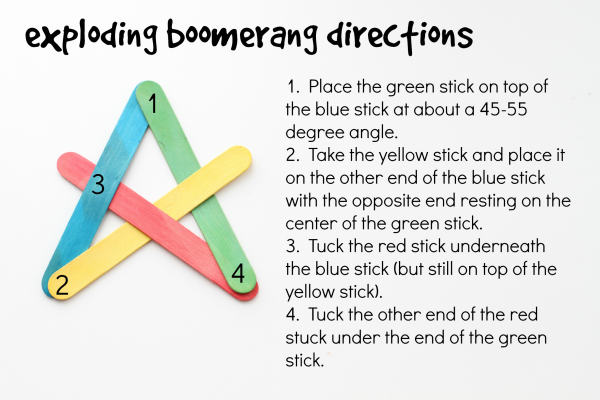 Exploding Boomerang Directions