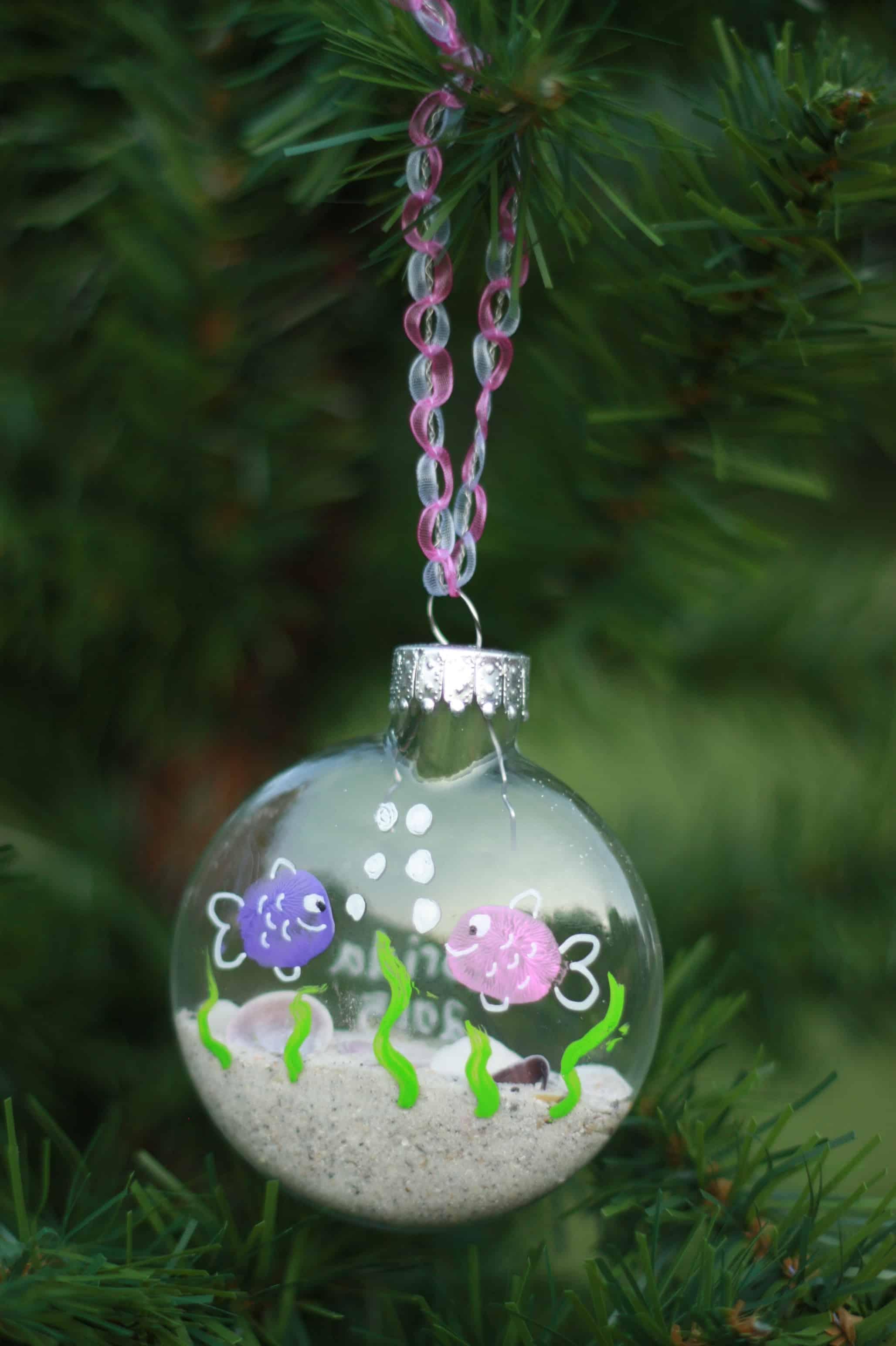 Seashell christmas ornaments - Seashell Wreath Photo Ornament