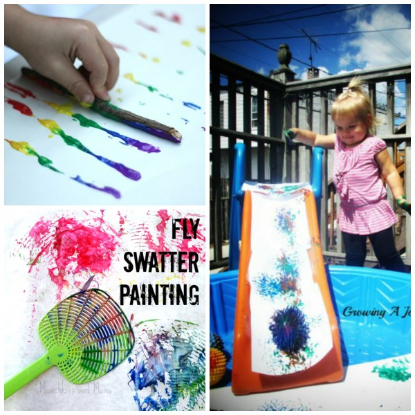More Outdoor Art for Toddlers