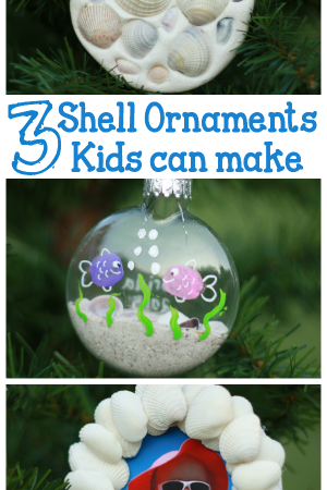 3 Shell Ornaments Kids Can Make