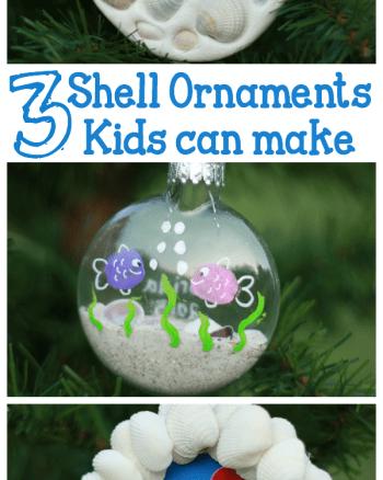 Seashell Ornaments Kids Can Make