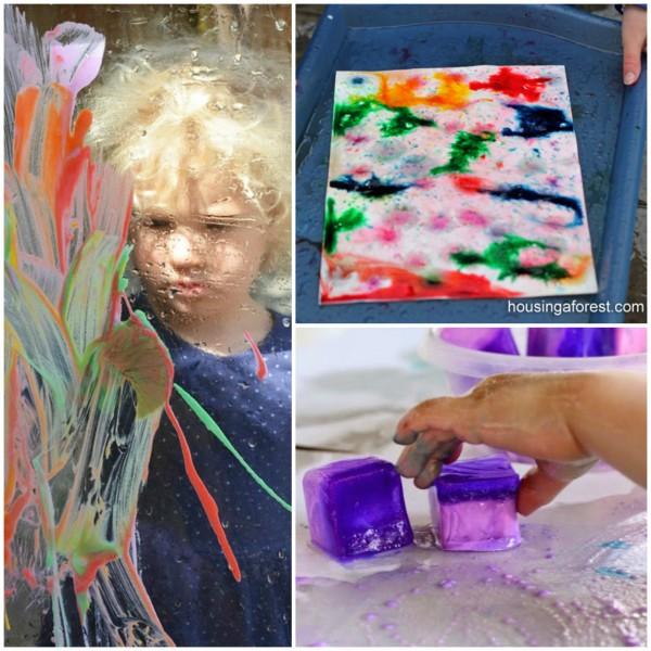 Toddler Art Outdoors