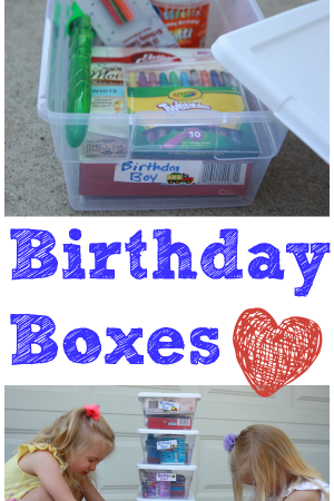 Birthday Boxes for the Food Pantry