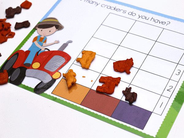 Use these free math printables to practice patterns, graphing and sorting with your preschooler.