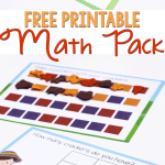 This free printable math pack for preschoolers is a great way to practice sorting, graphing and patterns!
