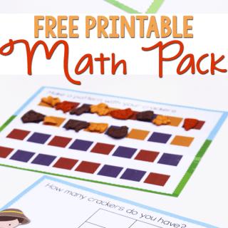 Free Printable Math Pack for Preschoolers