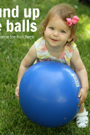 round up the balls - a simple game for toddlers