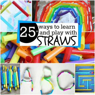 25+ Ways to Learn and Play with Straws