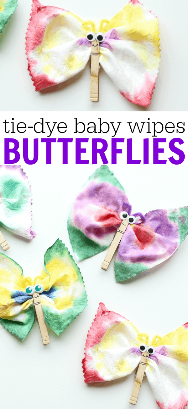 baby craft ideas tie dye baby wipes butterflies i can teach my child 1082