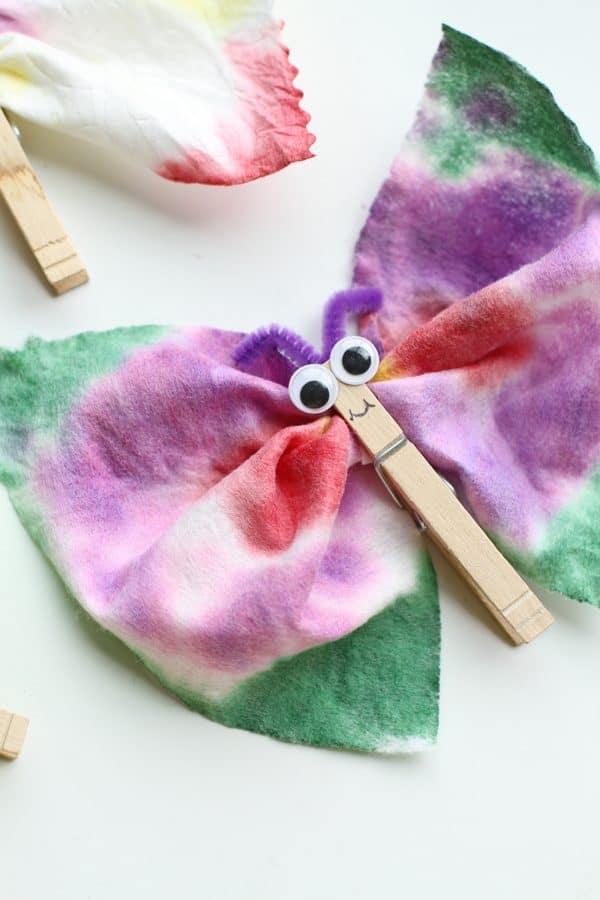 Tie Dye Baby Wipe Butterfly