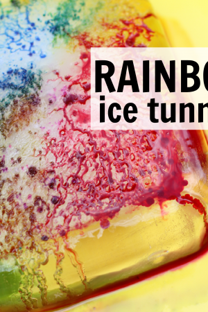 Rainbow Ice Tunnels- the perfect blend of science and art