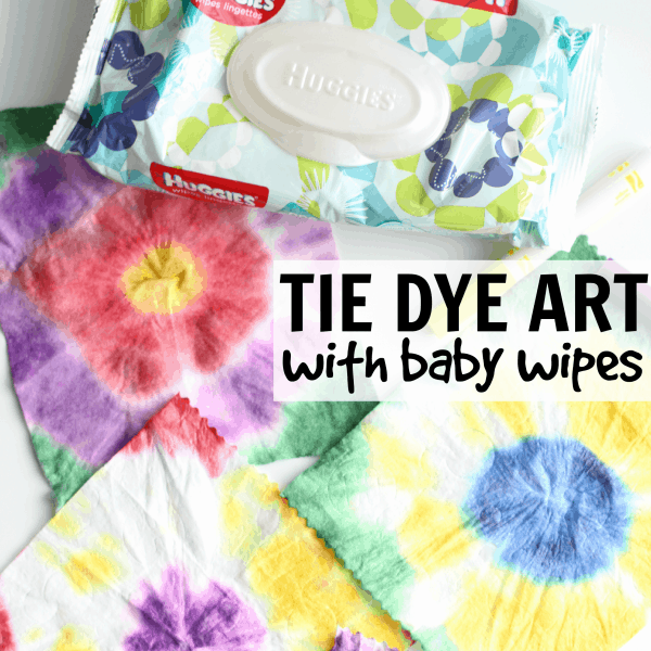 Tie Dye Art with Huggies Wipes