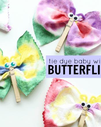 Tie Dye Baby Wipes Butterflies