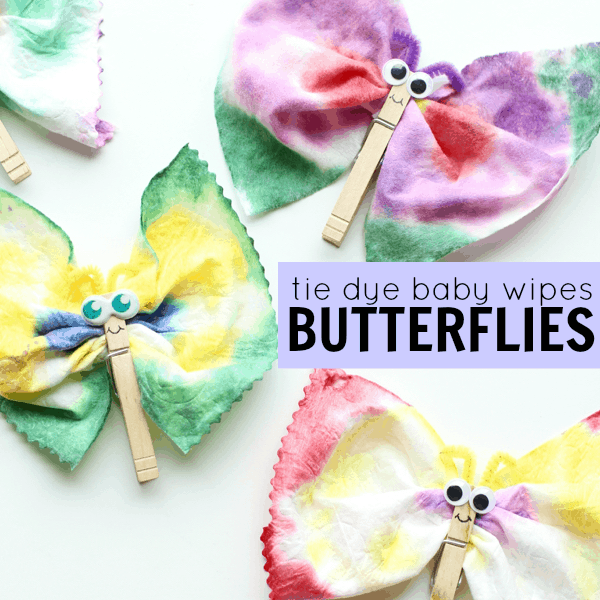 Tie Dye Baby Wipes Butterflies