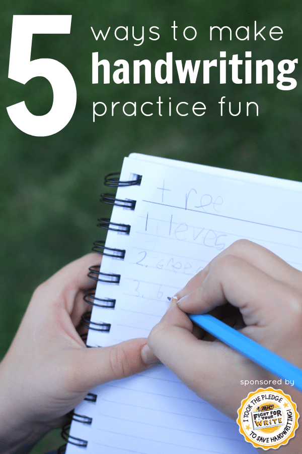 Fun Ways To Practice Letter Formation