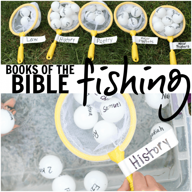 Books of the Bible Fishing activity
