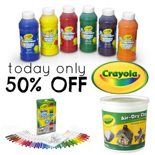 50% off Crayola Products Today