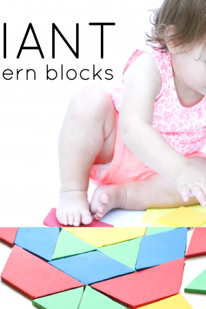 Giant Pattern Blocks for Toddlers