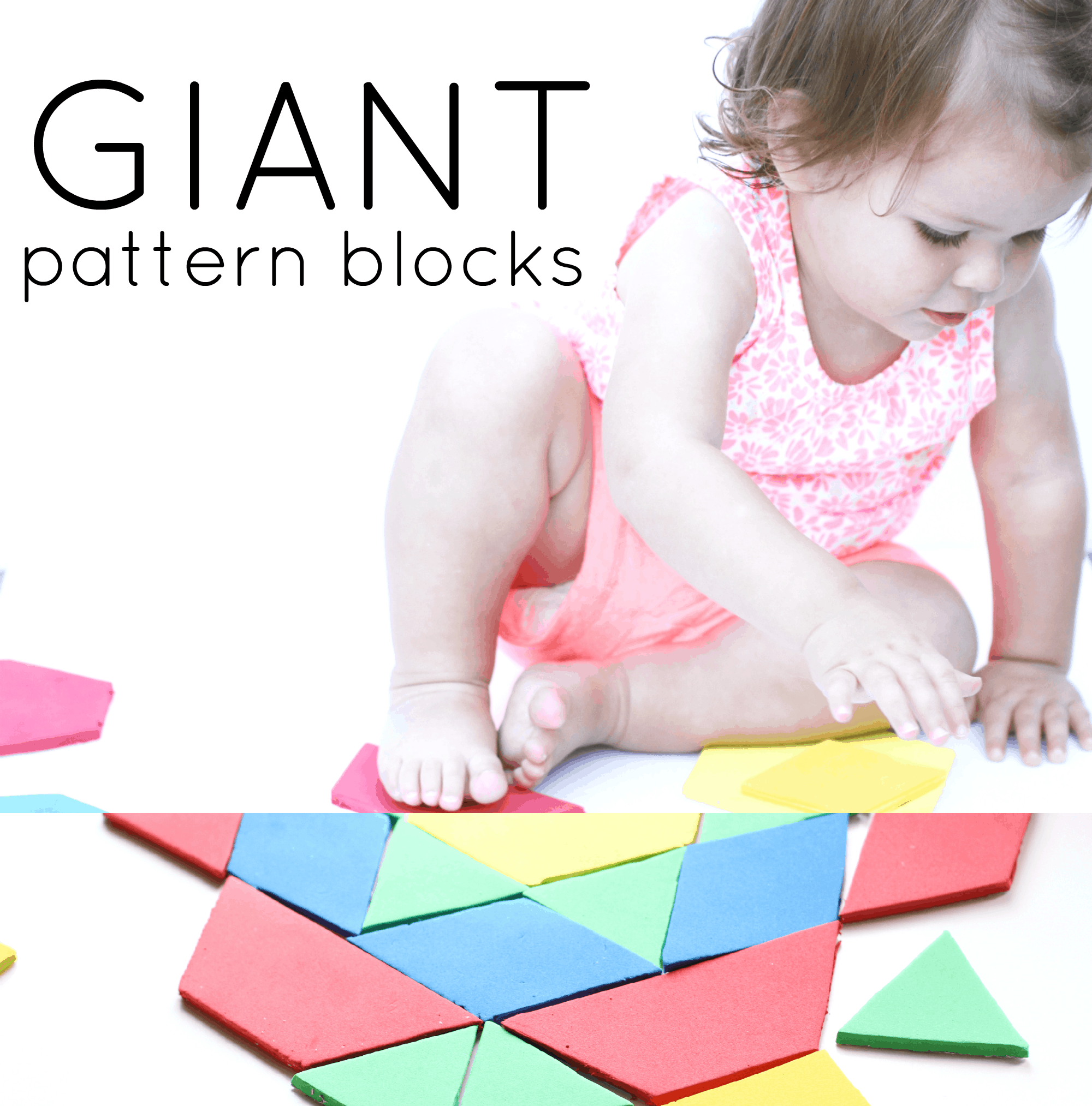 Giant Pattern Blocks for Toddlers I Can Teach My Child