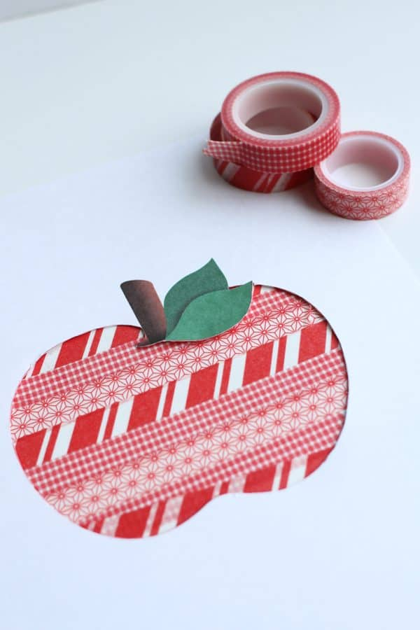 Washi Tape Apple Art