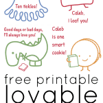 Free Printable Lovable Lunch Notes