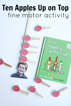 Ten Apples Up on Top by Dr. Seuss Fine Motor Activity