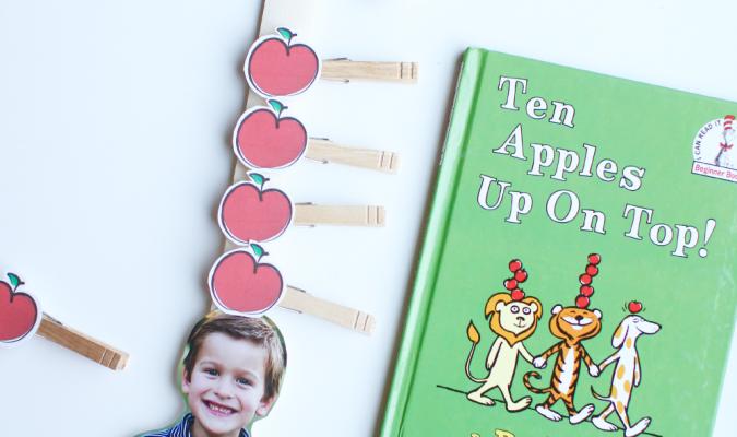Ten Apples Up on Top Fine Motor Activity