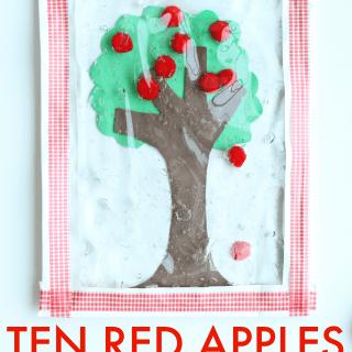 Ten Red Apples Sensory Bag