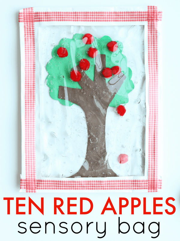 Ten Red Apples Sensory Bag for Toddlers