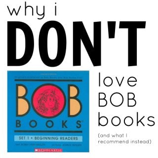 Why I Don't Love BOB Books