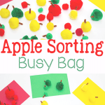 Apple Sorting Busy Bag